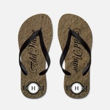 Beach Bride and Groom Flip Flops