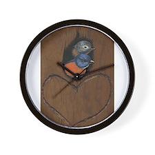 Love Birds Message Wall Clock