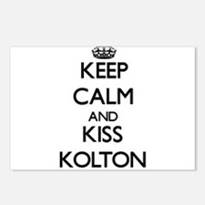 Keep Calm and Kiss Kolton Postcards (Package of 8)