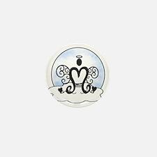 M Monogram Mini Button