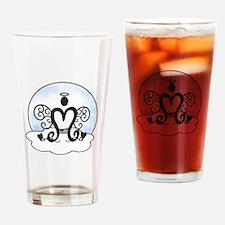 M Monogram Drinking Glass