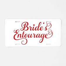 Brides Entourage Aluminum License Plate