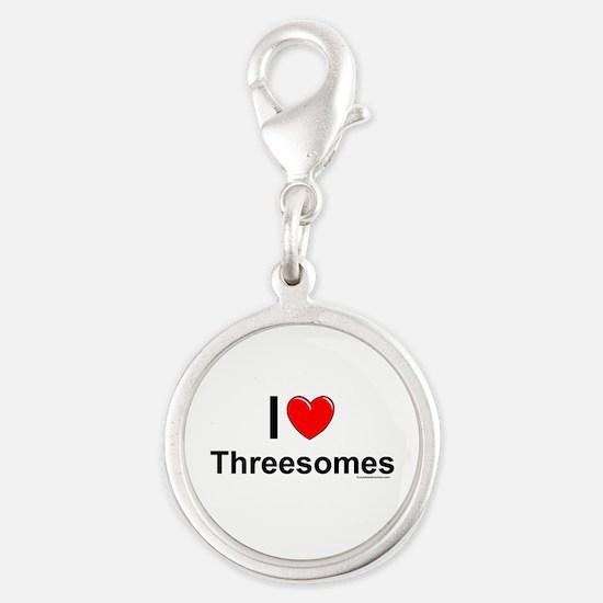 Threesomes Silver Round Charm