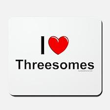 Threesomes Mousepad