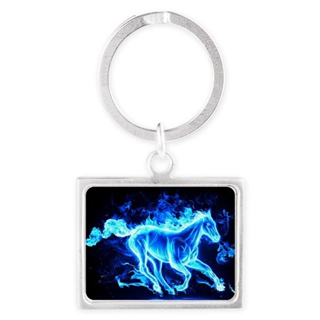 Flamed Horse Keychains