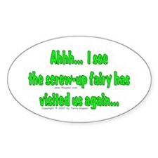 Screw-up Fairy Oval Decal