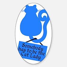 Cat Lady Sticker (Oval)
