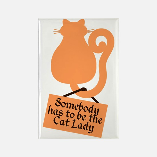 Cat Lady Rectangle Magnet