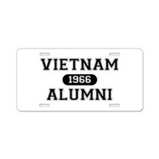 ALUMNI 1966 Aluminum License Plate