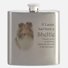 Timmy's Sheltie Flask