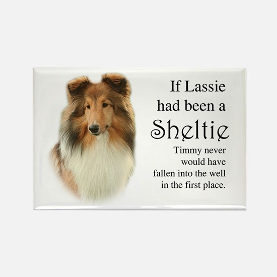 Timmy's Sheltie Rectangle Magnet