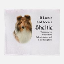 Timmy's Sheltie Throw Blanket