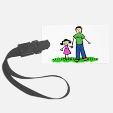 Father and Daughter (Asian) Luggage Tag
