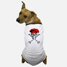 Red Culinary Chef Skull Dog T-Shirt