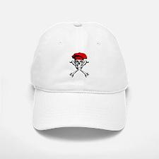 Red Culinary Chef Skull Baseball Baseball Baseball Cap
