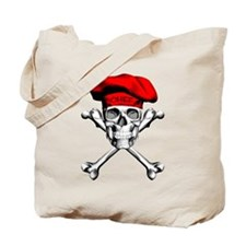 Red Culinary Chef Skull Tote Bag