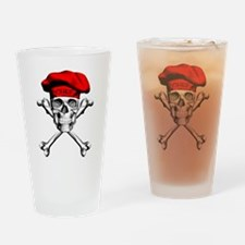 Red Culinary Chef Skull Drinking Glass