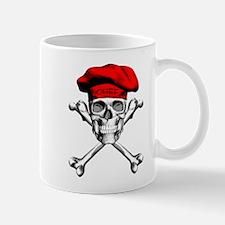 Red Culinary Chef Skull Mugs