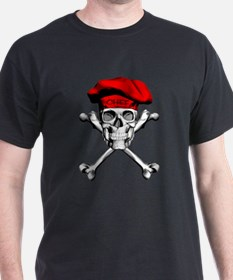 Red Culinary Chef Skull T-Shirt