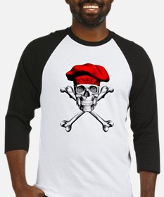 Red Culinary Chef Skull Baseball Jersey