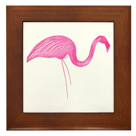 flamingo 6 Framed Tile