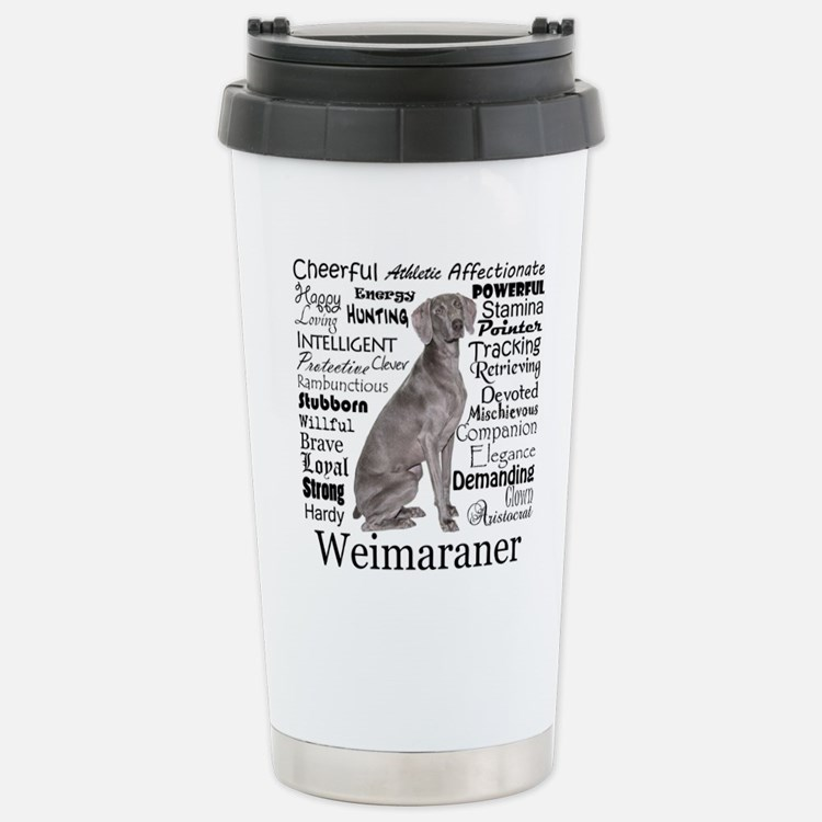 Weimaraner Traits Travel Mug