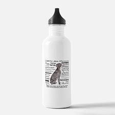 Weimaraner Traits Water Bottle