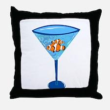 Clown Fishtini Throw Pillow