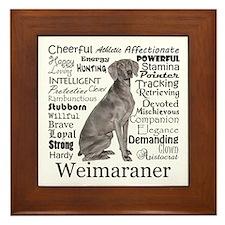 Weimaraner Traits Framed Tile
