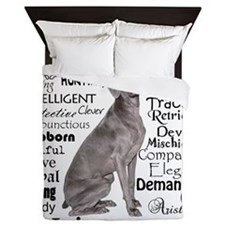 Weimaraner Traits Queen Duvet