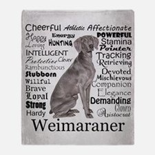 Weimaraner Traits Throw Blanket