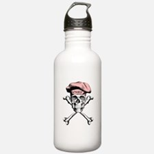 Pink Culinary Chef Skull Water Bottle