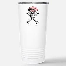 Pink Culinary Chef Skull Travel Mug