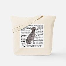 Weimaraner Traits Tote Bag