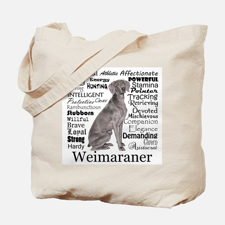 Weimaraner Traits Tote Bag