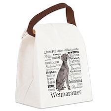 Weimaraner Traits Canvas Lunch Bag
