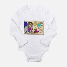 Escape Key Humor Long Sleeve Infant Bodysuit
