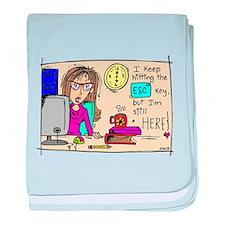 Escape Key Humor baby blanket