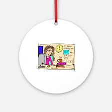 Escape Key Humor Ornament (Round)