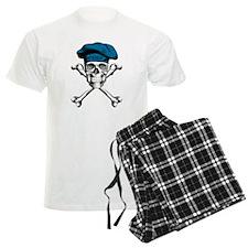 Blue Culinary Chef Skull Pajamas