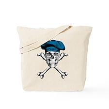 Blue Culinary Chef Skull Tote Bag