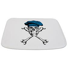 Blue Culinary Chef Skull Bathmat
