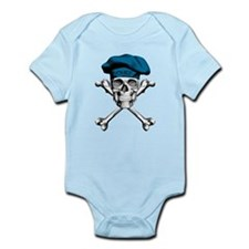 Blue Culinary Chef Skull Body Suit