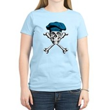 Blue Culinary Chef Skull T-Shirt