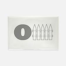 O Fence Rectangle Magnet