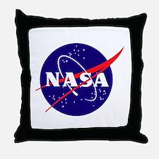 NASA Meatball Logo Throw Pillow