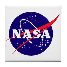 Nasa Meatball Logo Tile Coaster