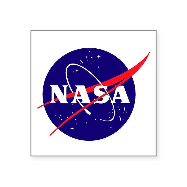 "NASA Meatball Logo Square Sticker 3"" x 3"" by quatrosales"