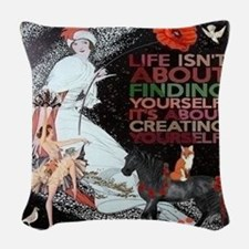 Yourself Woven Throw Pillow
