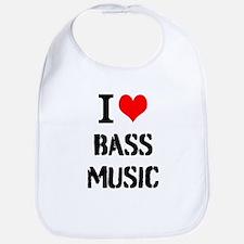 I Love Bass Music Bib